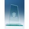 15 cm Jade Glass Mountain Award