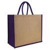 Laminated Jute Tote Bag Purple