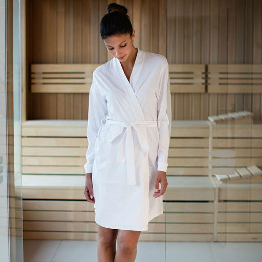 Women's Hotel Wrap Robe (White)