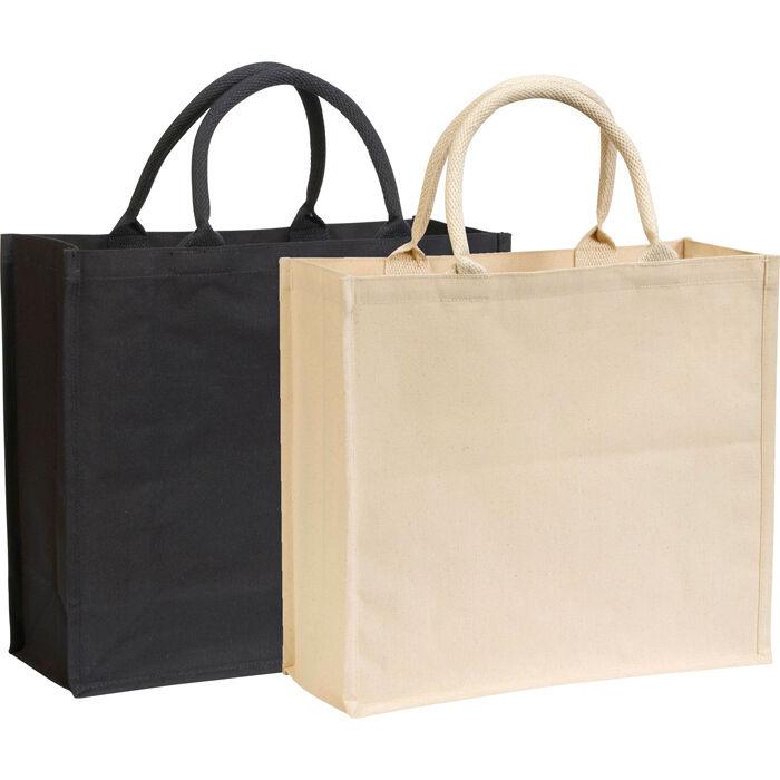 Canvas Laminated Bags - Natural & Black