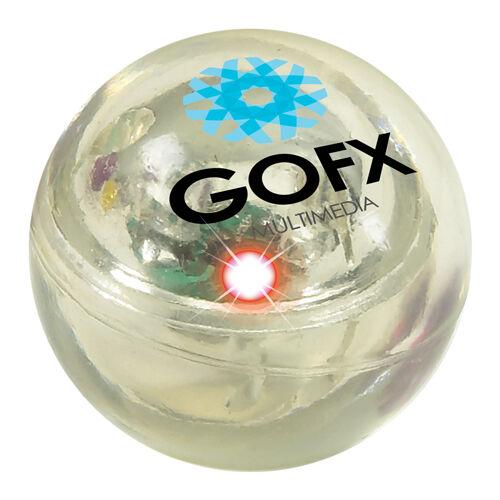 Flashing Bouncy Balls White