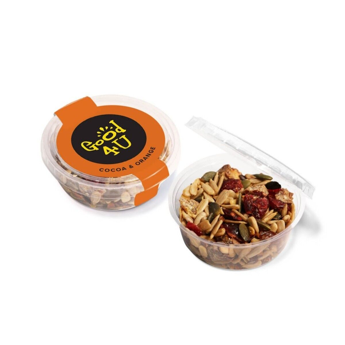 Midi Confectionery Pot filled with Cocoa & Orange Snacks