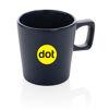 Modern coffee mug with matt finish (sample branding)