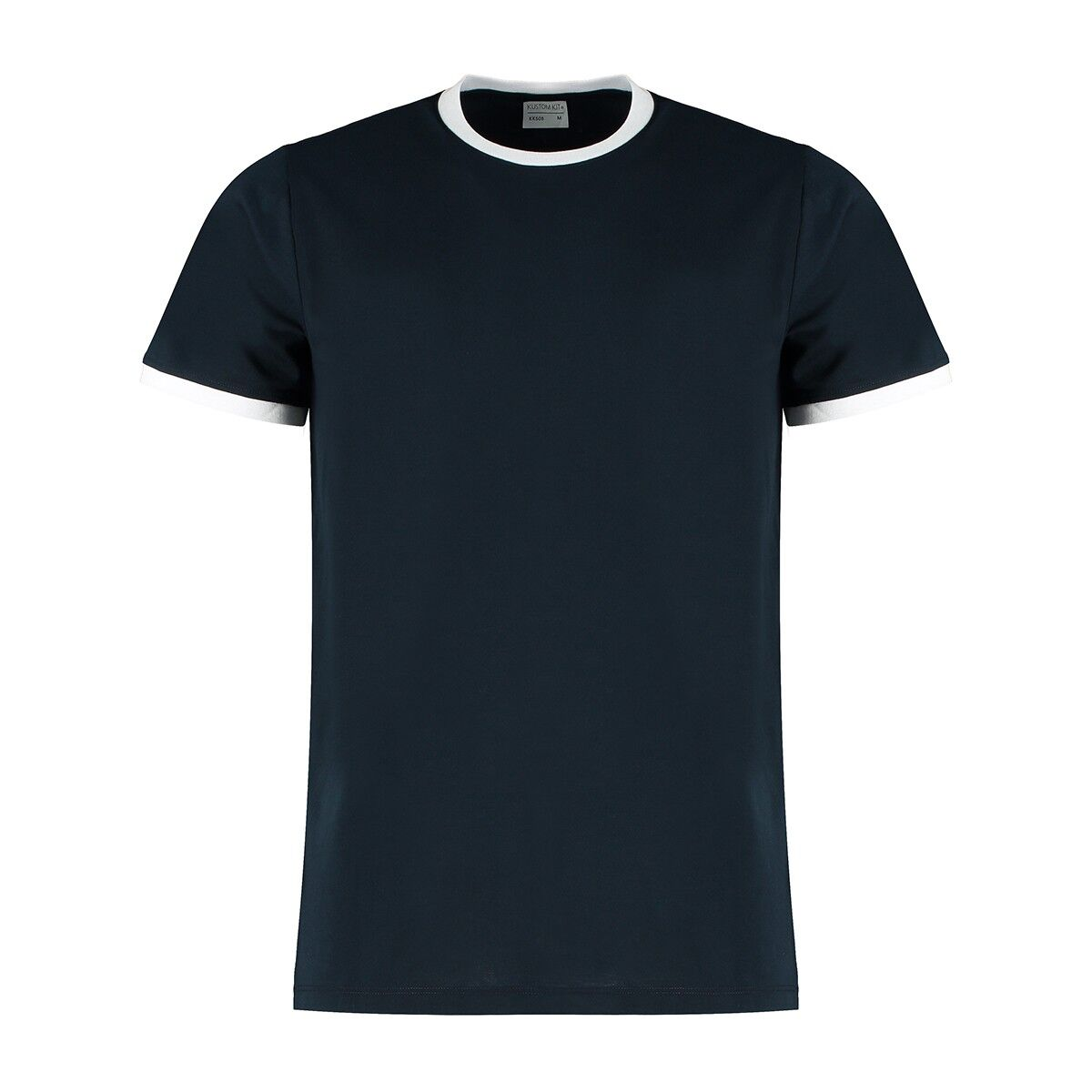 Contrast Ring Tee in Navy White