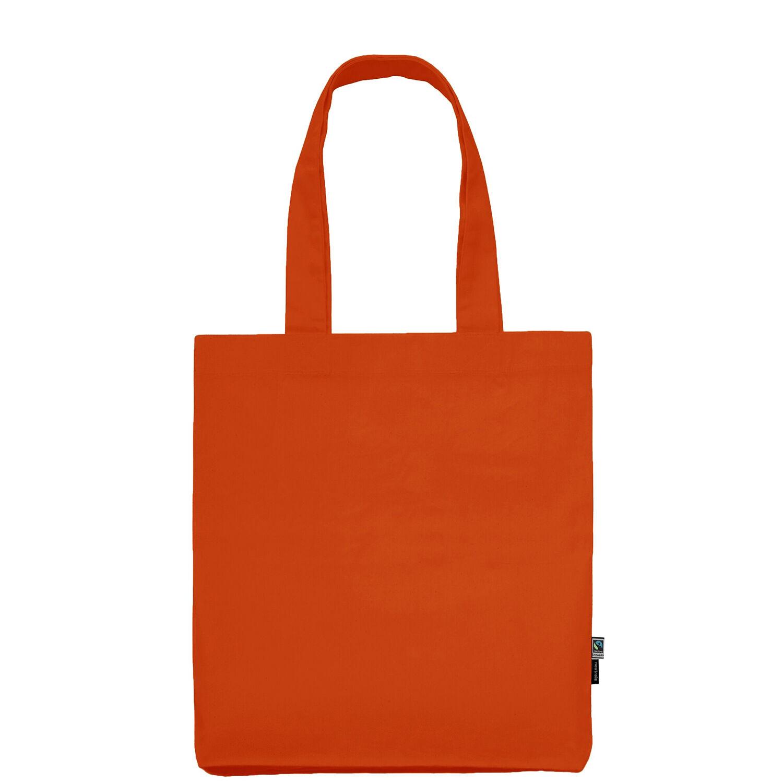Neutral Brand Organic Twill Tote Bag in orange
