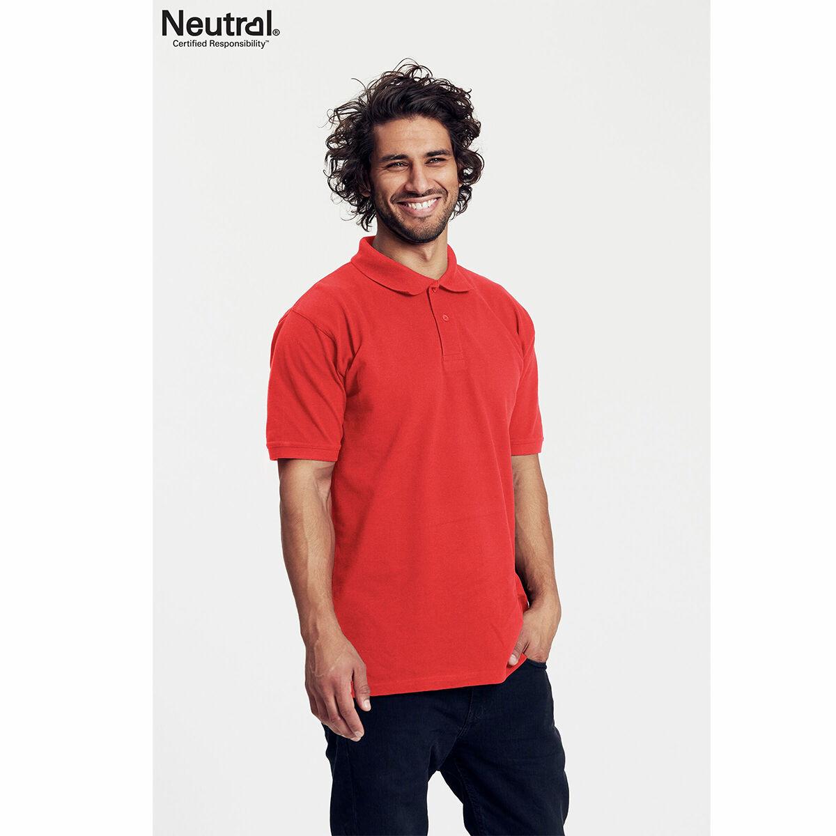 Neutral Organic Fair Trade Polo Shirt Red
