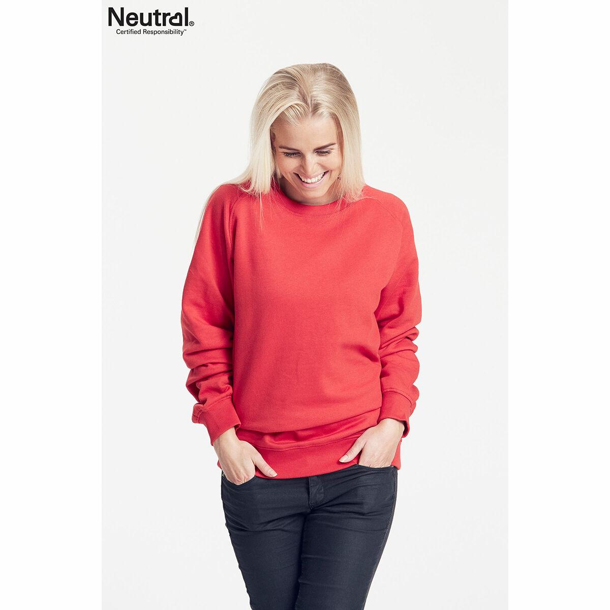 Neutral Organic Unisex Sweatshirt Red