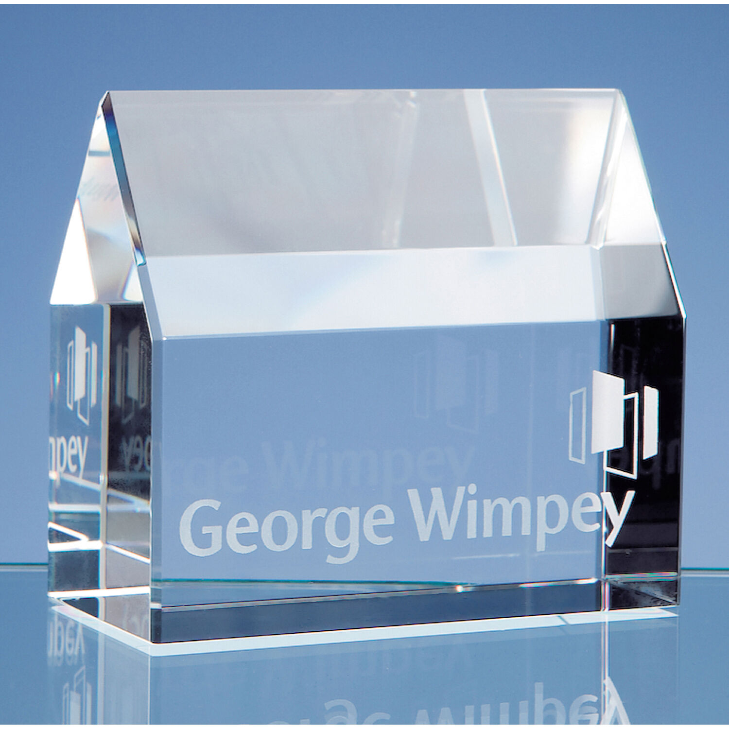 Optical Crystal House Paperweight