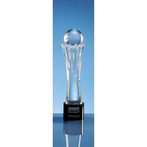 Optical Crystal Mounted Ball Award