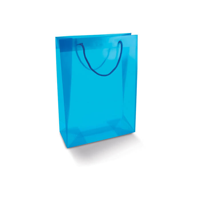 PP rope handled shoppers - blue