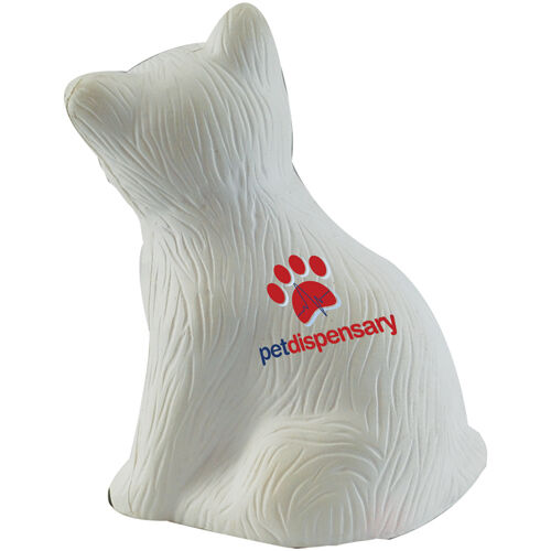 Squeezy Stress Cats to Print - White Cat
