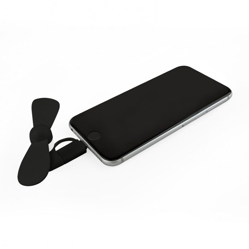 Smart Phone Fan Black Plugged in