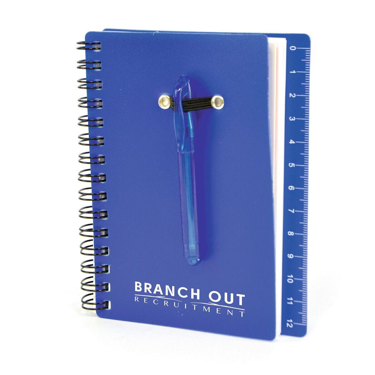Printed Mini Spiral Notepad Blue