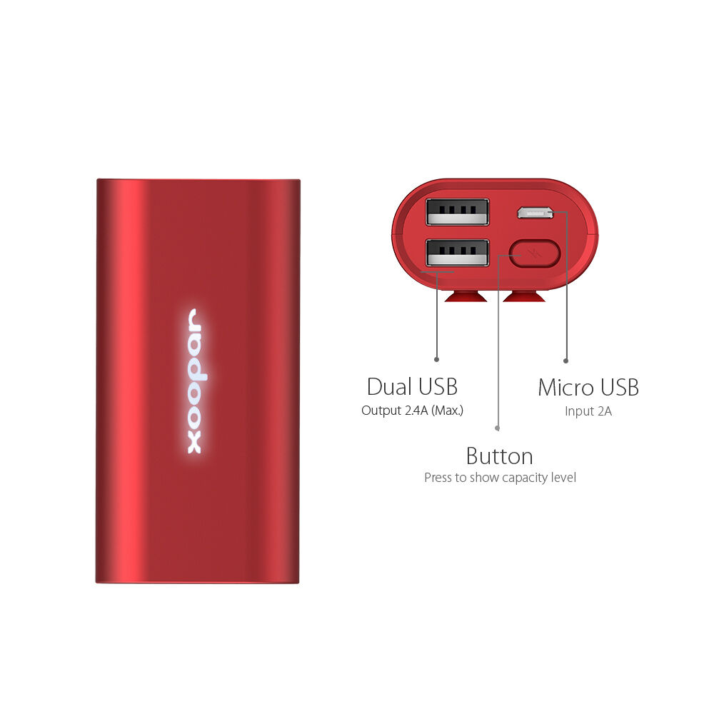 Power Bank Charger with Suction Pads
