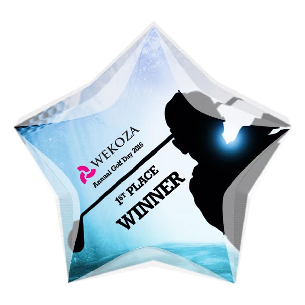 Star Shaped Acrylic Award