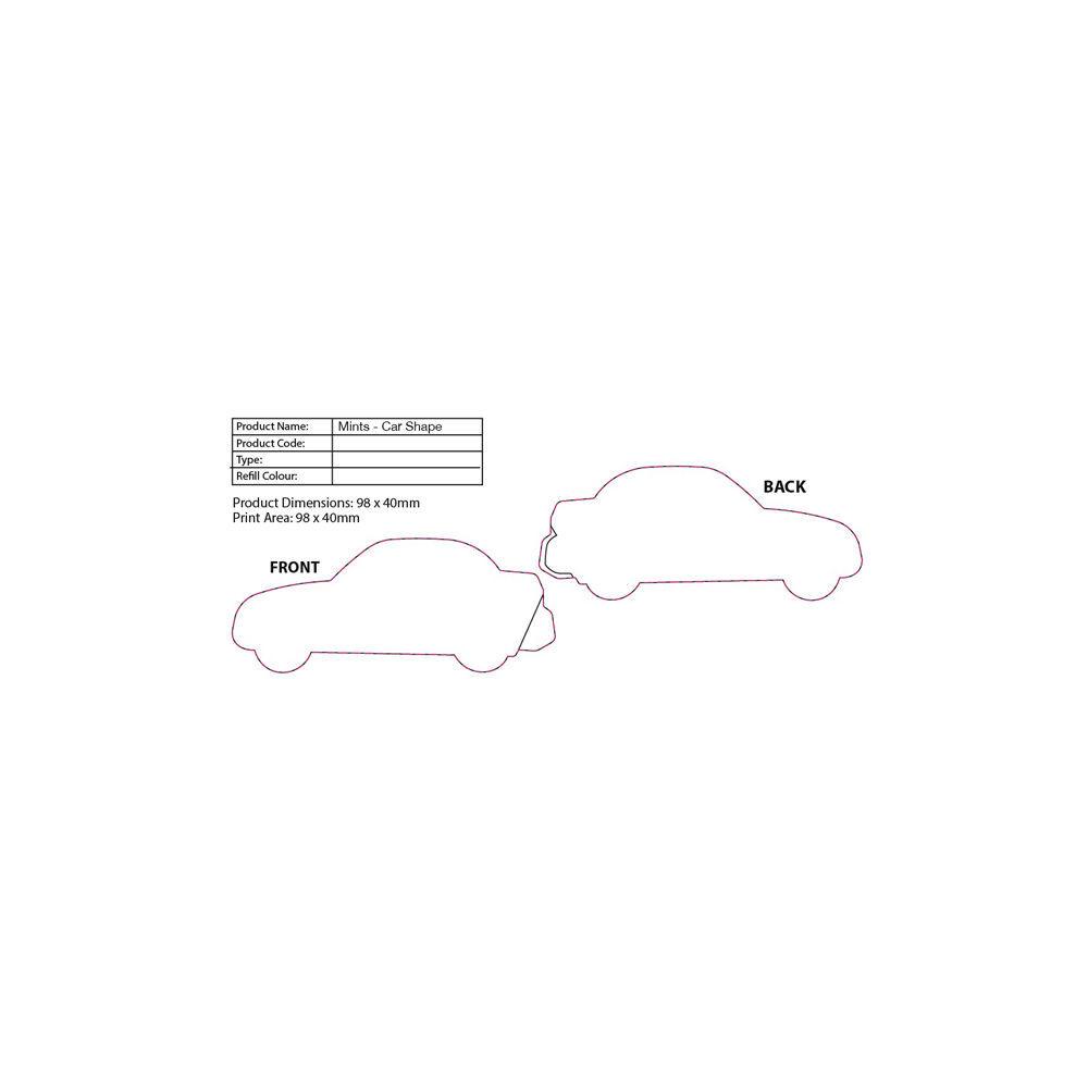 Vehicle Themed Travel Mints (Car Print Area)