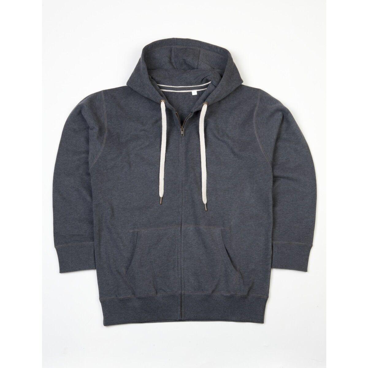 Zipped Mantis Hoodie - Charcoal Grey