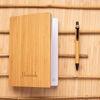 Bamboo notebook pen set individually personalised