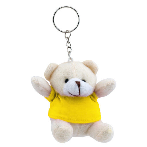 Teddy Bear Keyring - Yellow