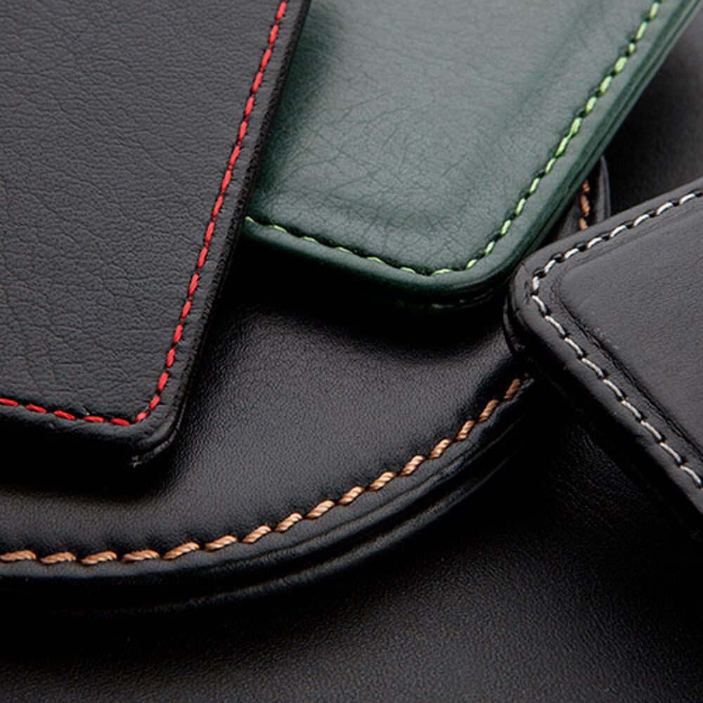 Leather Conference Folder for Branding - Contrast Stitching