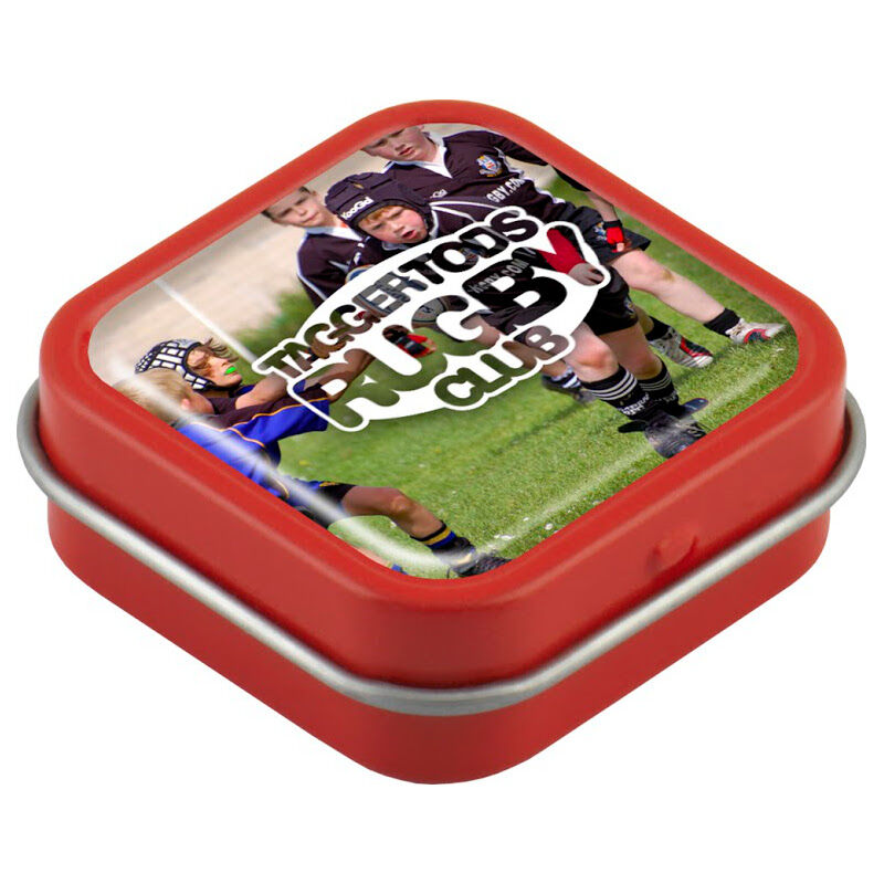 Domed Mint Tin (Red)
