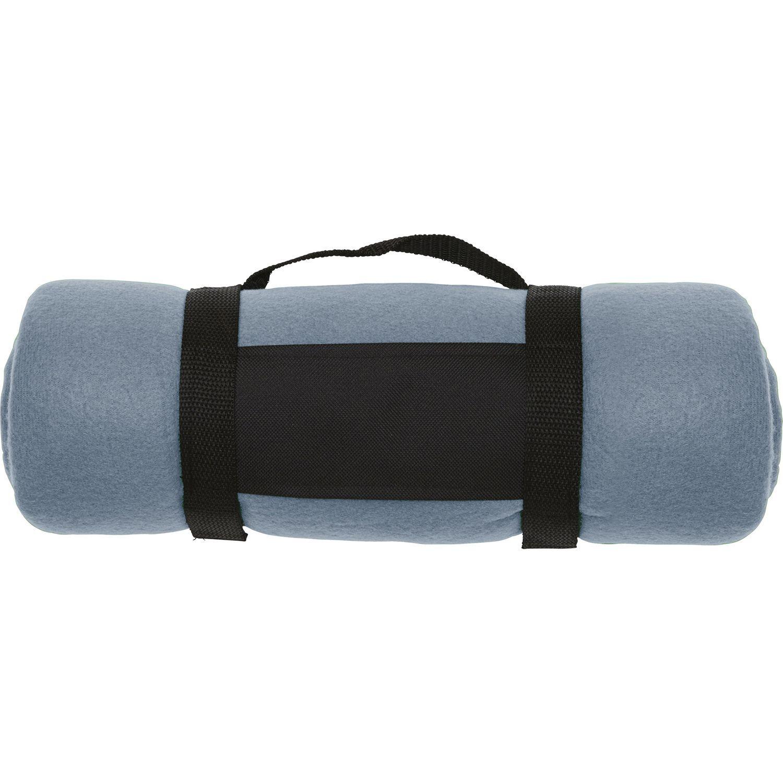 Fleece Blanket Navy Grey