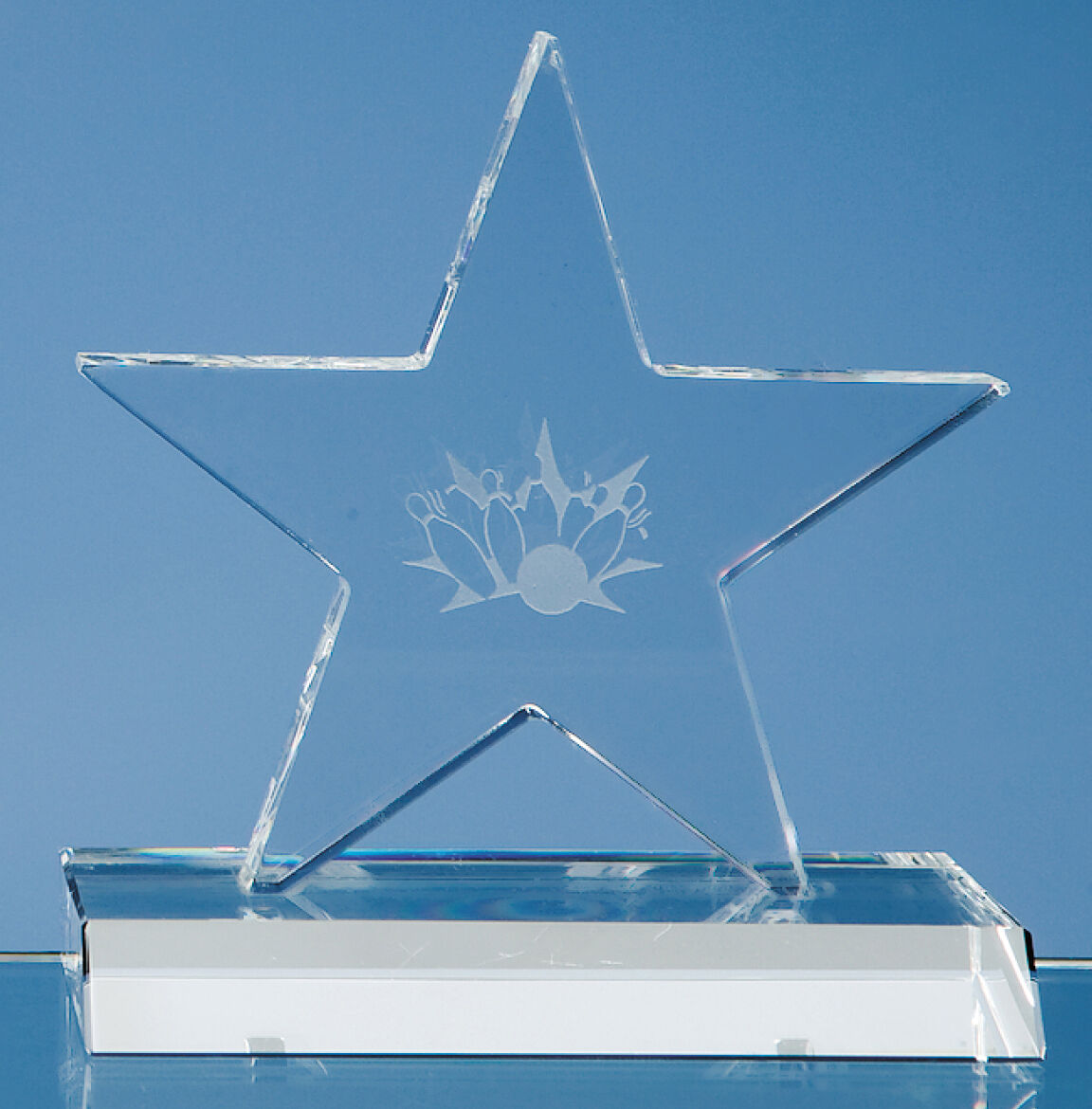16cm Optical Crystal Five Pointed Star Award