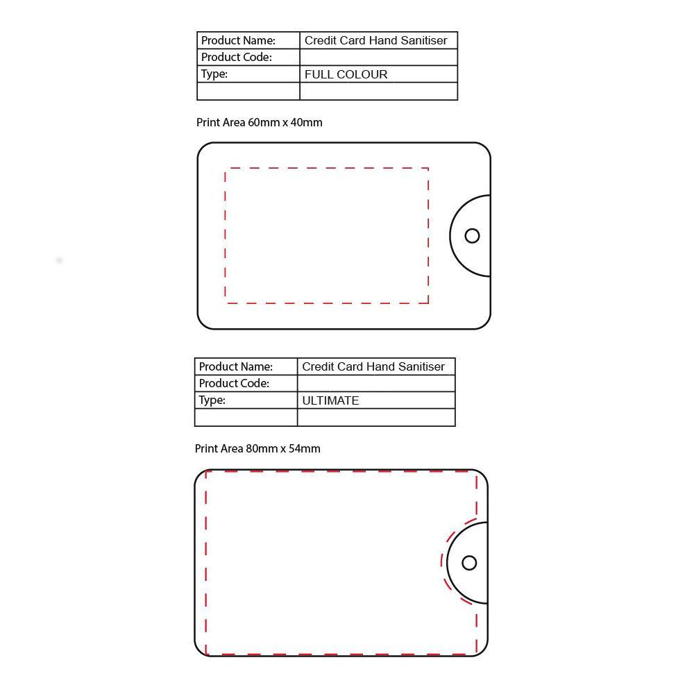 Credit Card Hand Sanitiser (print area)