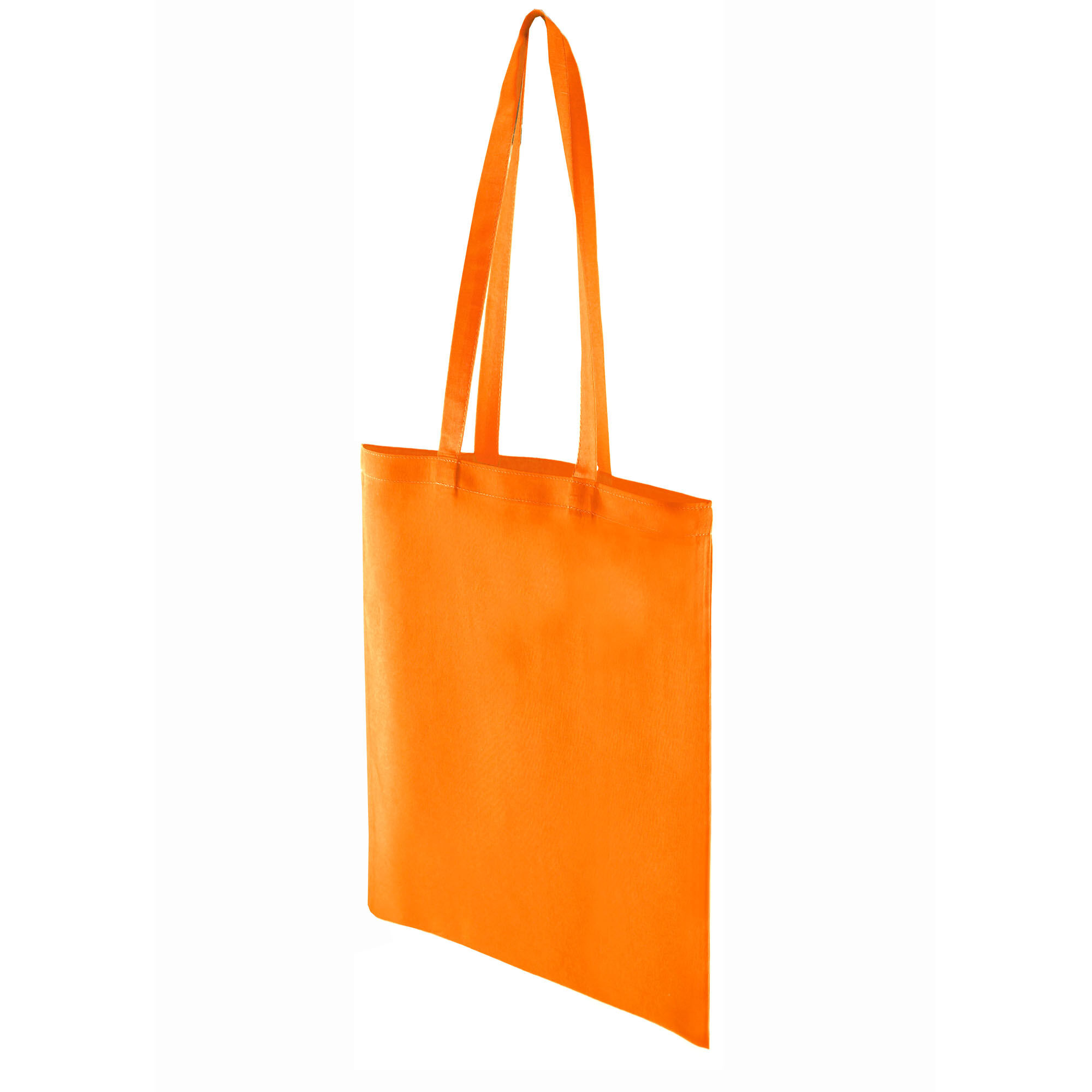 Premium Cotton Dyed Shopper Bags - Orange