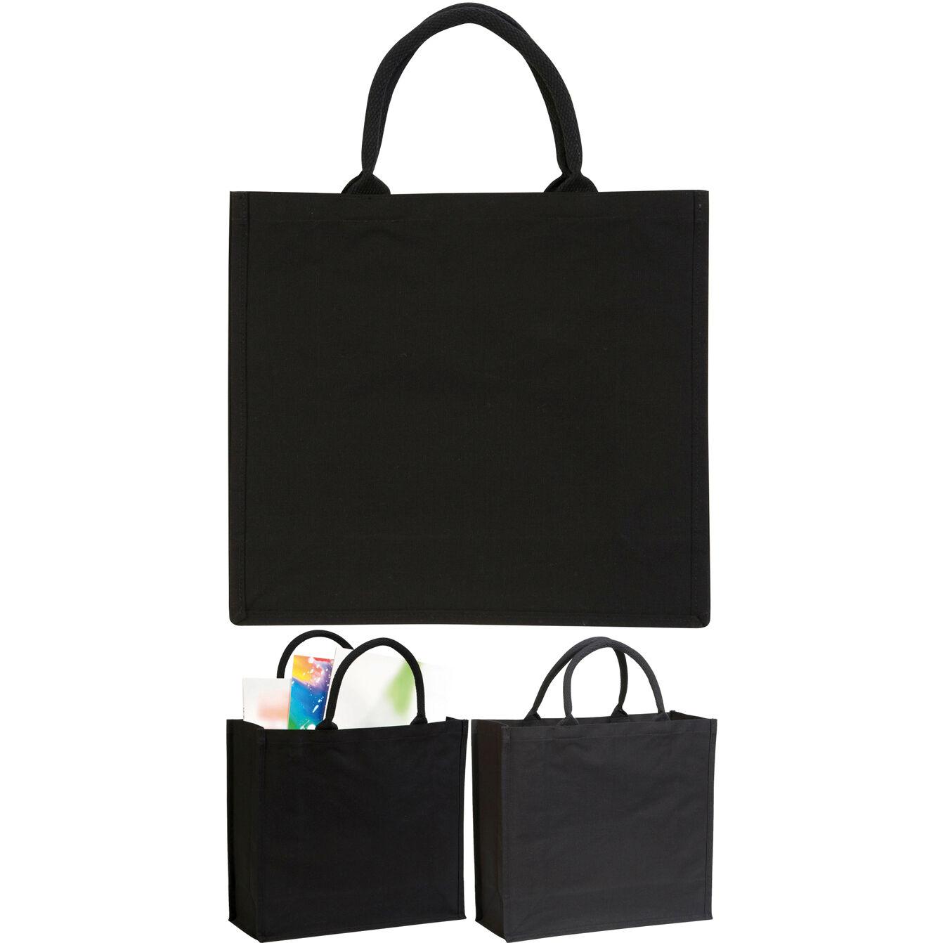 Canvas Laminated Bags - Black