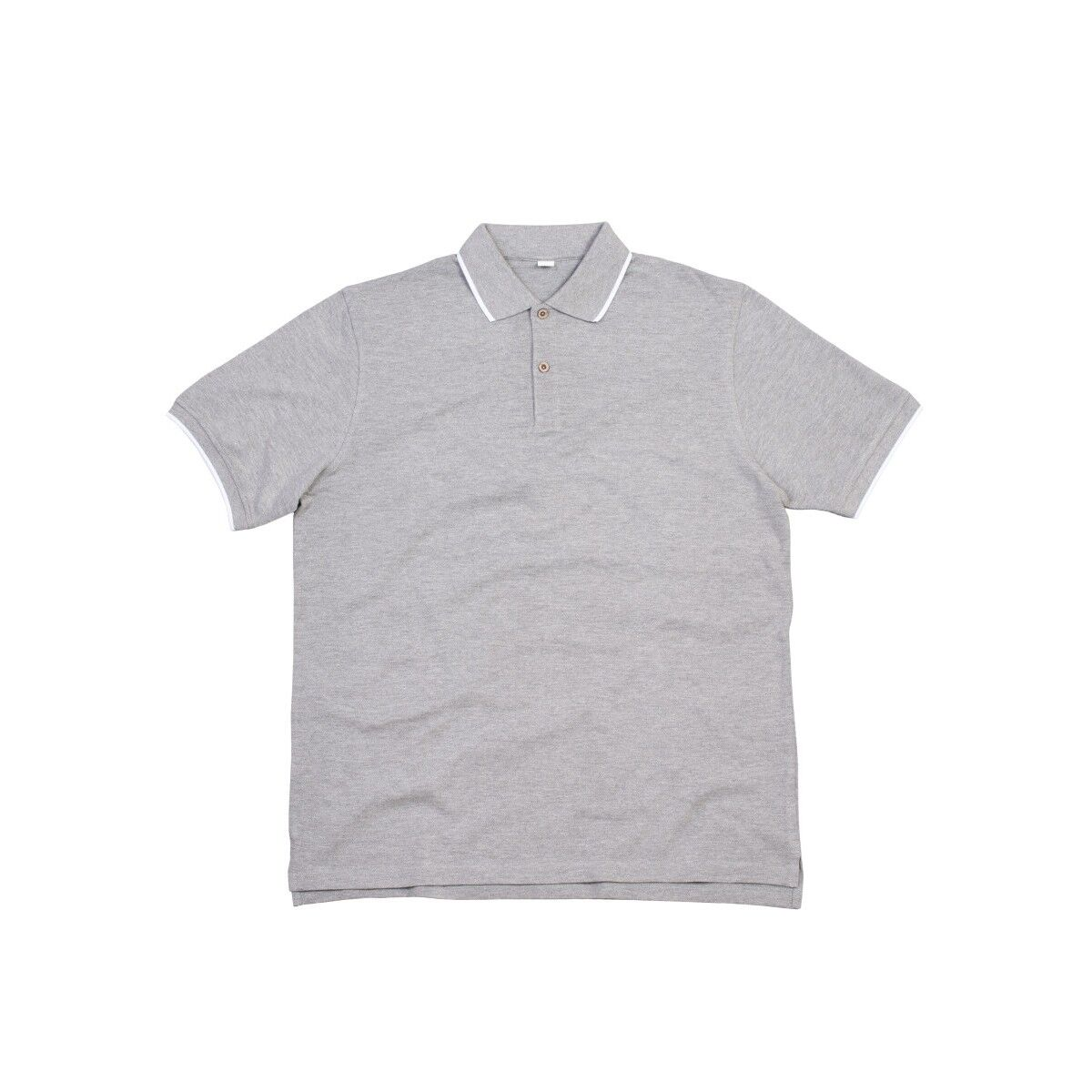 Mantis Tipped Polo Shirt - Heather Grey & White