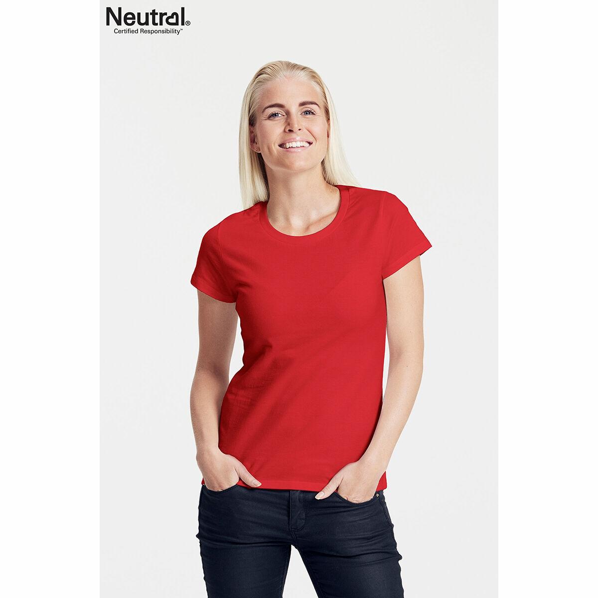 Neutral Ladies Organic T-shirt Red