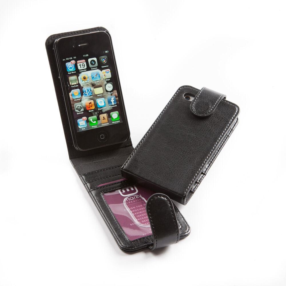 PU Leather iPhone 4 Flip Case