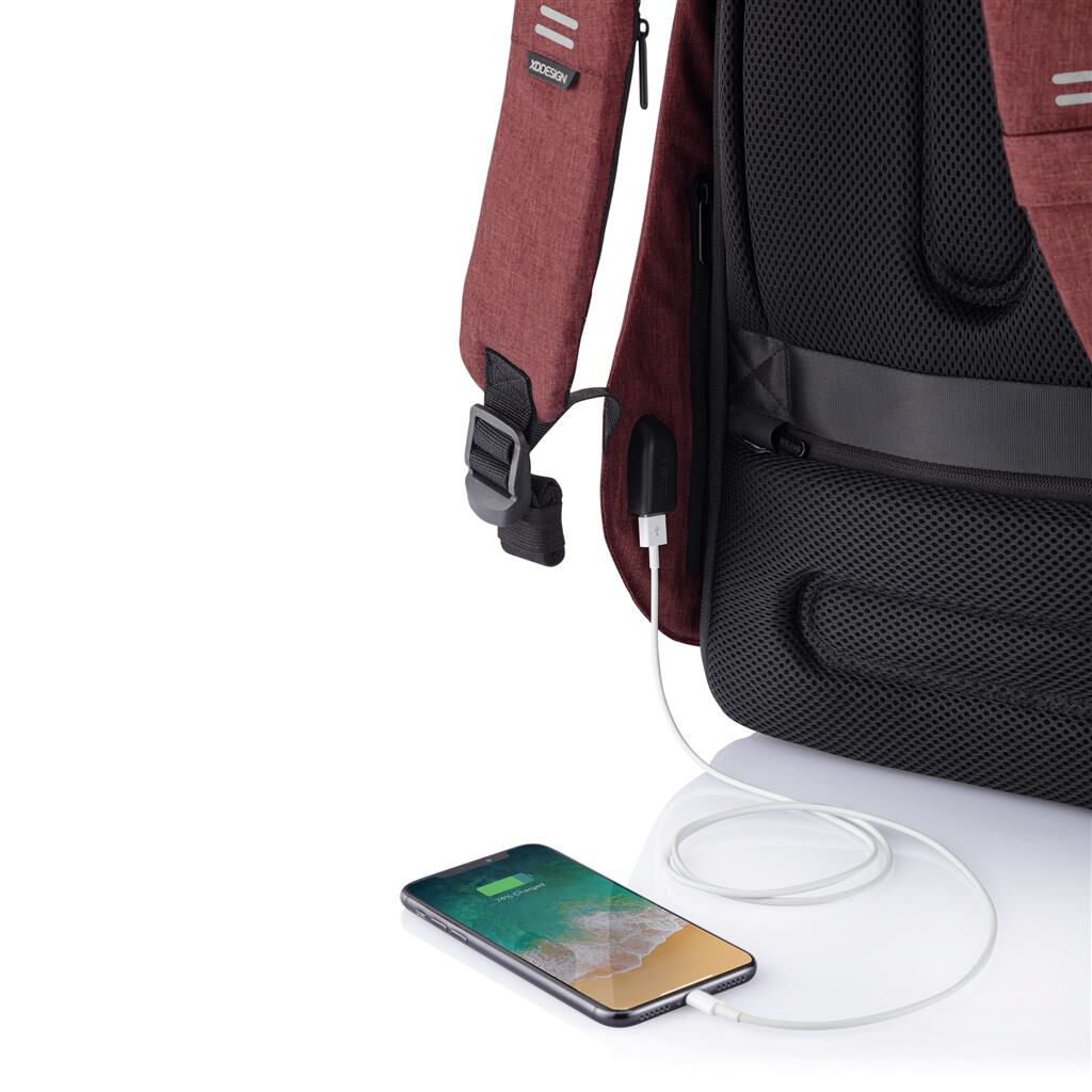 Recycled RPET Bobby Backpack  in Red