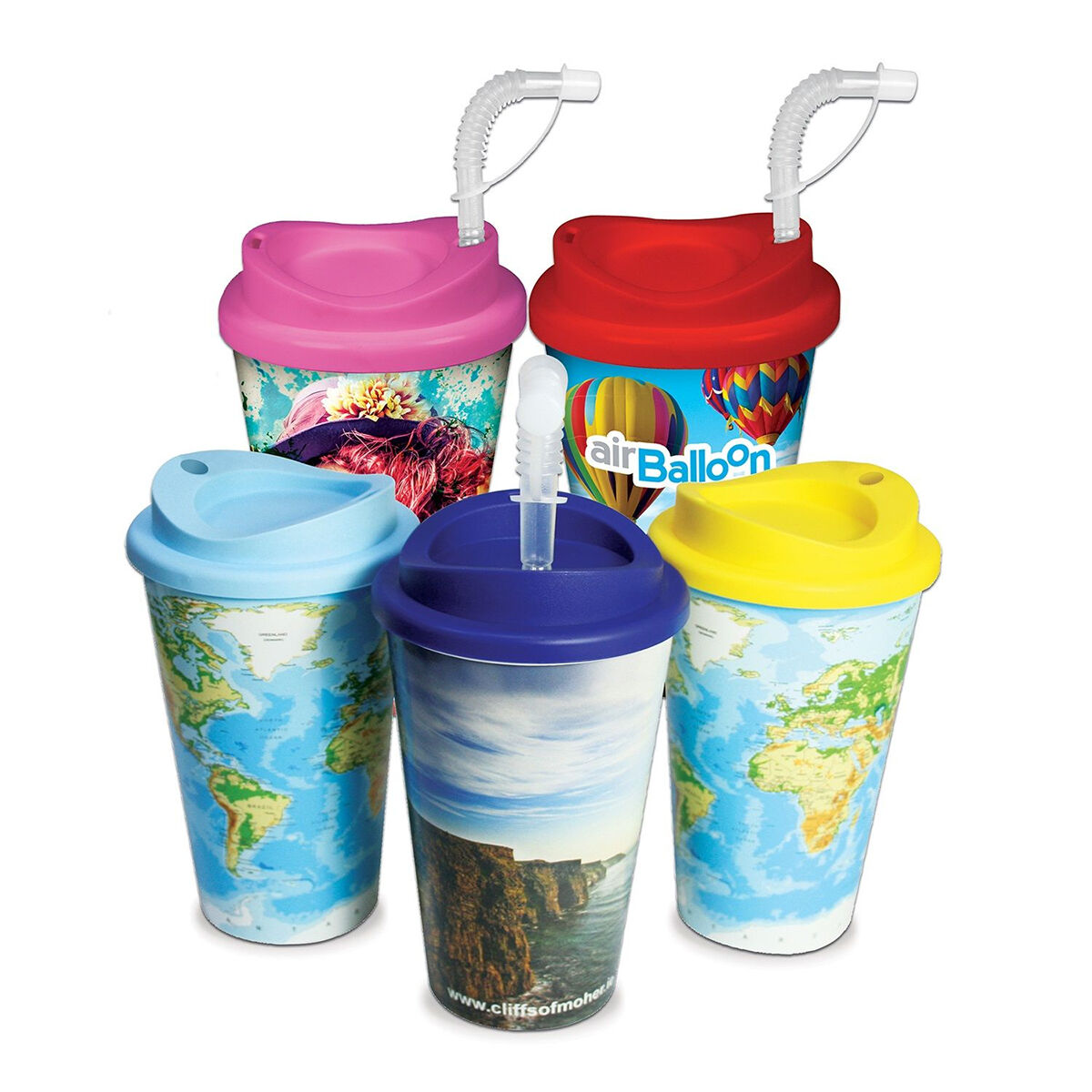 Universal Takeaway Cup with a full colour print